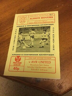 Albion Rovers V Ayr United 12 Dec 87 Scottish League