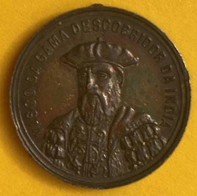 Silver Medal/ Vasco da Gama Discoverer of India/ 1498 4th centenary 1898