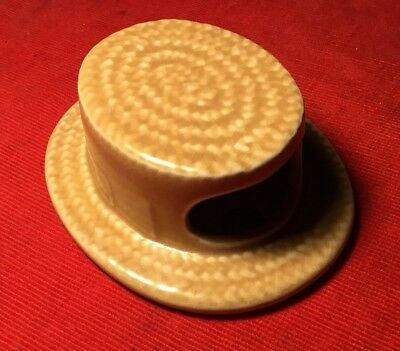 Vintage SylvaC Pottery Straw Boater Hat Wall Pocket