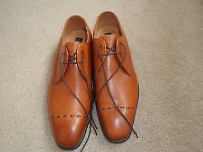Gents Brown Leather Cheaney Shoes Size 81/2 Lace up
