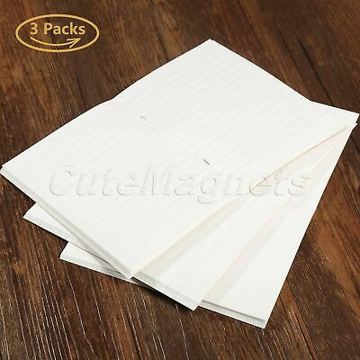 3/6 Sets Blank Paper Refill For Notebook Journal Diary Passport Memo Notepad