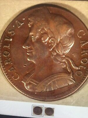 Charles 11 Halfpenny Miss Struck No Date Really Nice Coin Ext Rare