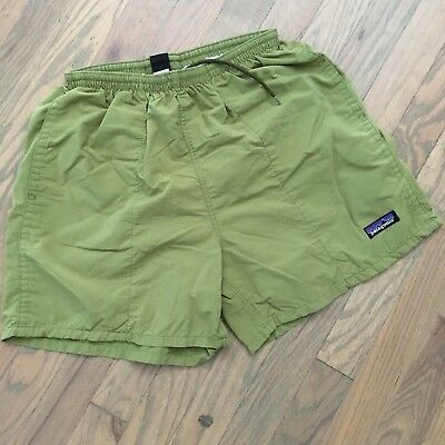 Patagonia Women's Swim Beach Shorts Green Size S Mesh Lined Drawstring Pockets