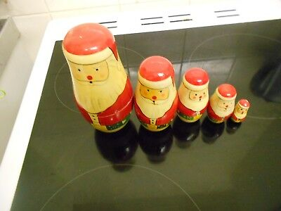 a santa themed  russian stacking doll