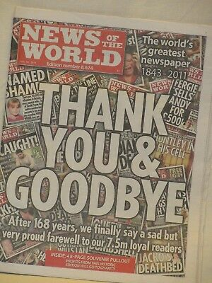 News of the World Souvenir Edition July 10, 2011, Thank you and Goodbye