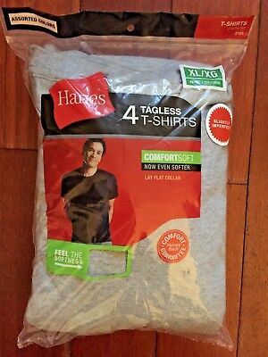 4 pack hanes mens gray t shirt sizes S - 2XL choose your size