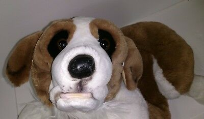 "33"" Jumbo Realistic St. Saint Bernard Dog Plush Stuffed Animal E&J Classic"