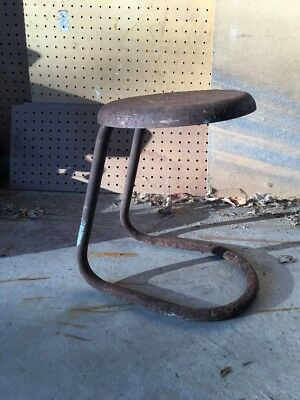 Vintage Rusty Metal Stool