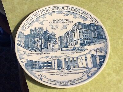 Mothers Day/carr China 1972 Grafton Wv West Virginia High School Plate