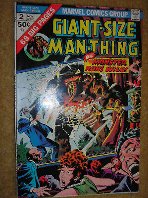 GIANT-SIZE MAN-THING # 2 BUSCEMA GERBER KIRBY POWELL 50c 1974 MARVEL COMIC BOOK