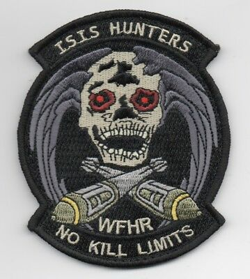 """hook side back 31st FW 4/"""" Diameter USAF Patch 555th EXPEDITIONARY FIGHTER SQ"""