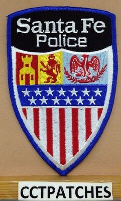Santa Fe, New Mexico Police (With Police) Shoulder Patch Nm