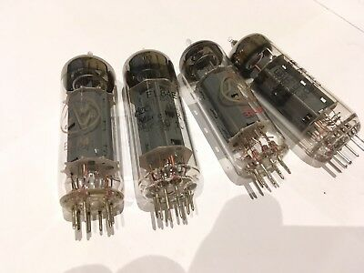 Job Lot 4 EL84 Assorted Power Amp Valves