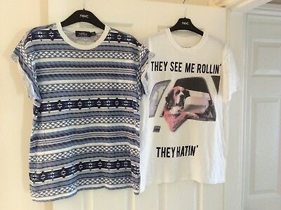 Mens River island and Topman T shirts. Size medium
