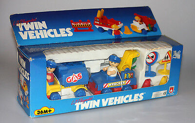 Vintage 1994 Lil Playmates Twin Vehicles Gas Truck & Wrecker NEW FACTORY SEALED