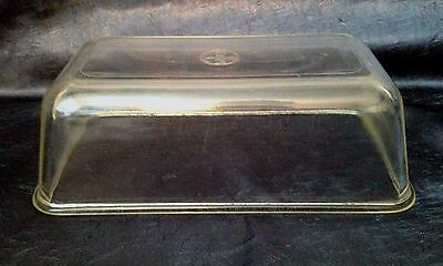 Vintage PYREX NO-HANDLES pre-1936; Clear 212 Bread or Loaf-Pan; P/C Backstamp