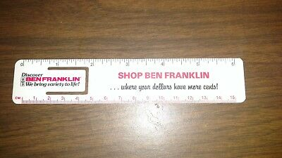 vintage shop ben franklin 5&10 store bookmark measure