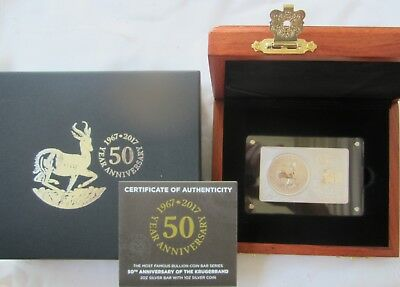 2017 KRUGERRAND, So AFRICAN 50th ANNIVERSARY  3 OZ COIN AND BAR  SET