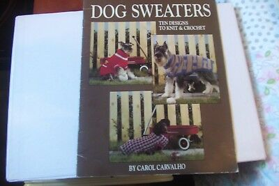 Dog Sweaters To Knit & Crochet 10 Designs Leisure Arts Leaflet 934