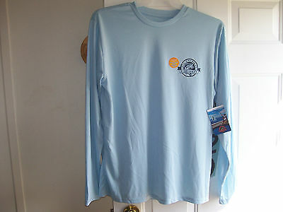BNWT Mens Large  All American Fisherman Lake Blue UPF Protect  T-Shirt