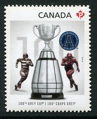 """Weeda Canada 2598i VF NH Die cut 2012 Argos Grey Cup """"P"""", from Annual Collection"""