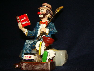 Ron Lee Collectible Clown Sculpture Door to Door Salesman