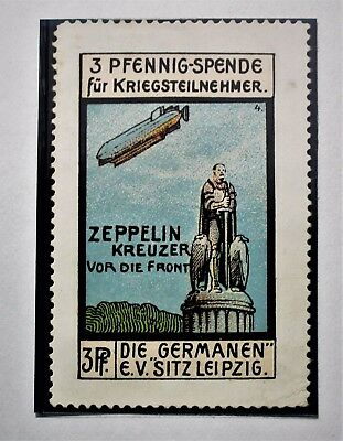 GERMANY VIGNETTE Zeppelin flight over Leipzig Mint H NG VF (folder 1)
