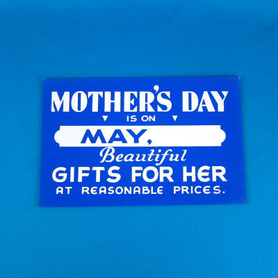 """VTG 1950s """"Mother's Day"""" Sign Silkscreen department store display gift boutique"""
