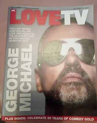 We love TV magazine features George Michael & 25 years of comedy gold Oct 2017