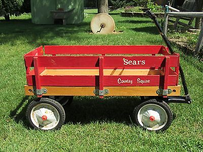Vintage Wooden Coaster Wagon 1970's