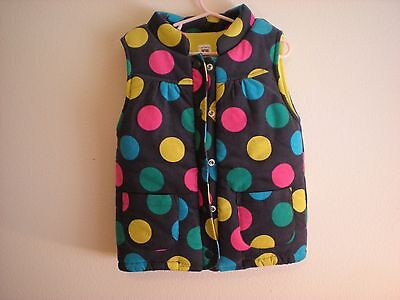 Carters Girls Vest Size 5 Polk A Dot