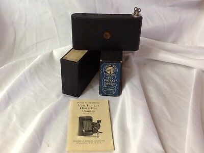 Vintage Vest Pocket Hawk-Eye Camera by Eastman Kodak Company W/ Box