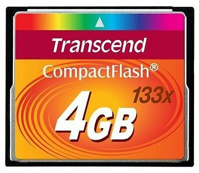 Transcend 4GB 133x Compact Flash CF Memory Card NEW for Canon EOS 20D/ 30D/350D