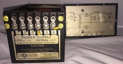 Ten TEC LITE Power Supply LPS-102 Serial 1651 External Primary Fuse Protection