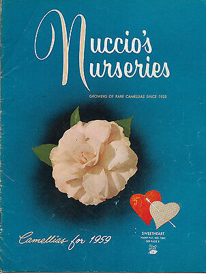 Vintage Nuccio's Nurseries Camellias for 1959 Catalog
