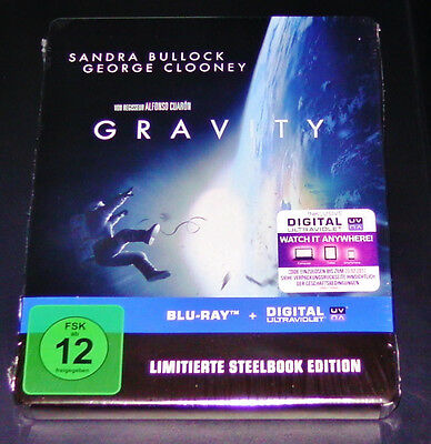 Gravity Steelbook Limited Edition Blu-Ray Fast Shipping New & Vintage