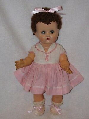 """Vintage 13"""" Ideal Betsy Wetsy Doll With Caracul Hair"""