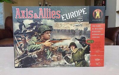 Axis & Allies Europe Avalon Hill 1999 Sealed Contents Mint!