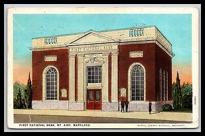 Mt Airy Maryland First National Bank Postcard