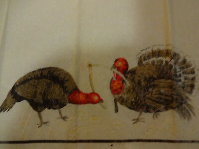 Unusual 1920s Vintage Thanksgiving Crepe Paper Two Turkeys Pulling  a Wishbone