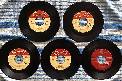 Lot of 5 classic Freddy Cannon singles (early 60's Rock & Roll)