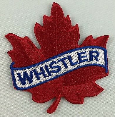 Whistler Maple Leaf Patch Embroidered Iron On Applique