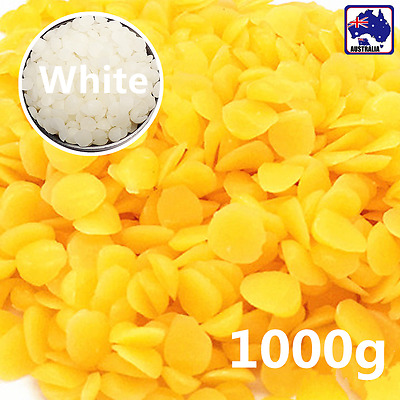 1000g Yellow/White Beeswax Drops Pastilles Pellets Beads SBEA544
