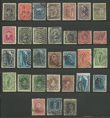Newfoundland FROM #27 to 74 USED Collection (31 stamps) C$529.00---) Start at 1c