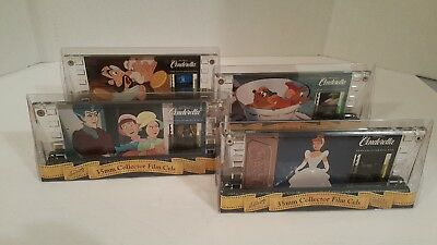 Four Matched Numbered Disney CINDERELLA 35MM Collector Film Cels