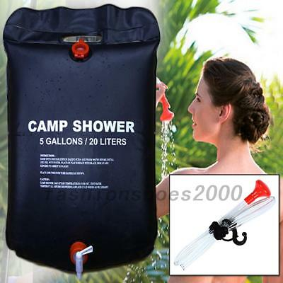 20L Foldable Solar Energy Heated Camp Shower Bag Outdoor Camping Travel