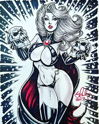 SEXY ORIGINAL PIN-UP ART BY CAMERON BLAKEY (Goblin Queen)