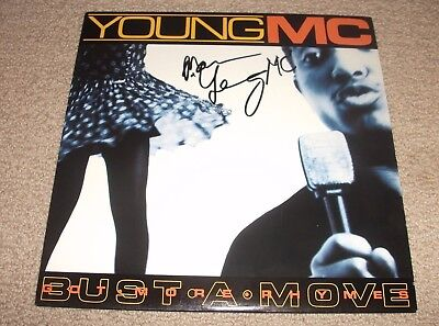YOUNG MC - SIGNED Bust A Move/Got More Rhymes Record LP! Hip Hop Legend! RARE!!
