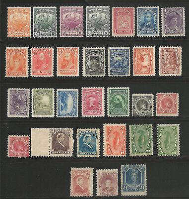 Newfoundland FROM #31 to 123 Mint LH-H (30 stamps) C$1335.00---) Start at 1c