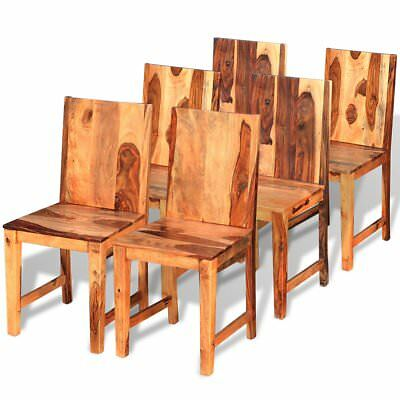 vidaXL 6 pcs Dining Chairs Office Home Kitchen Furniture Solid Sheesham Wood